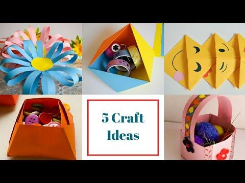 5 Easy Paper Crafts Ideas For Kids Back To School Crafts For