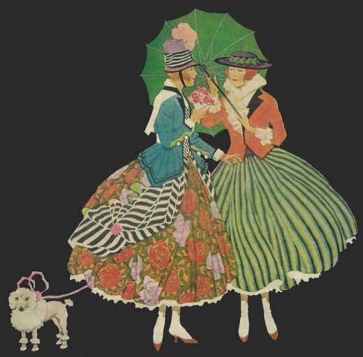 Vintage Wallpaper Ladies - Free Vintage Art