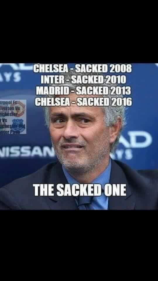 The Sacked One Football Funny Jose Mourinho Jose