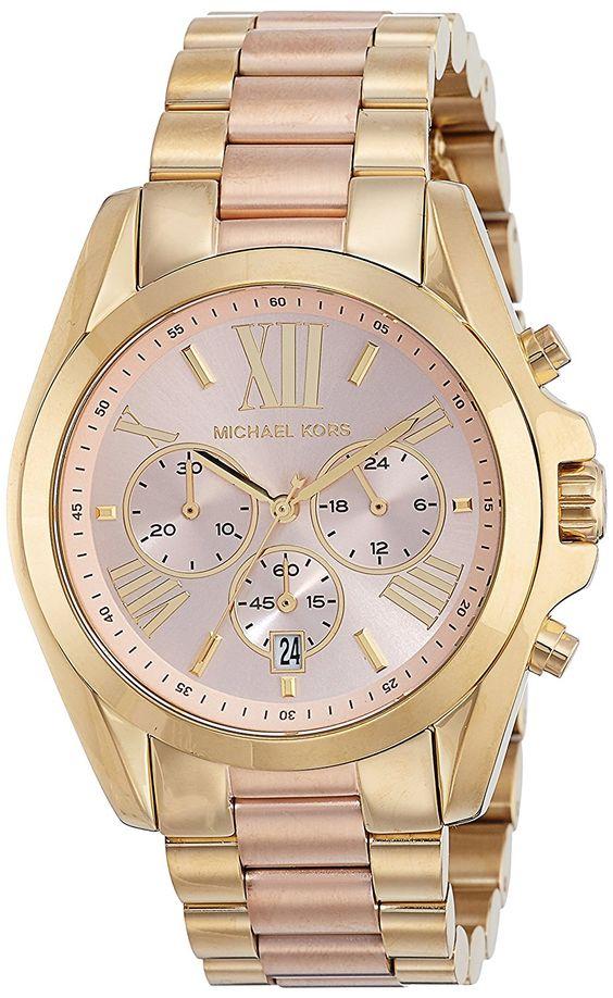 Amazon.com: Michael Kors Women's Bradshaw Gold-Tone Watch MK6359: Michael Kors: Clothing