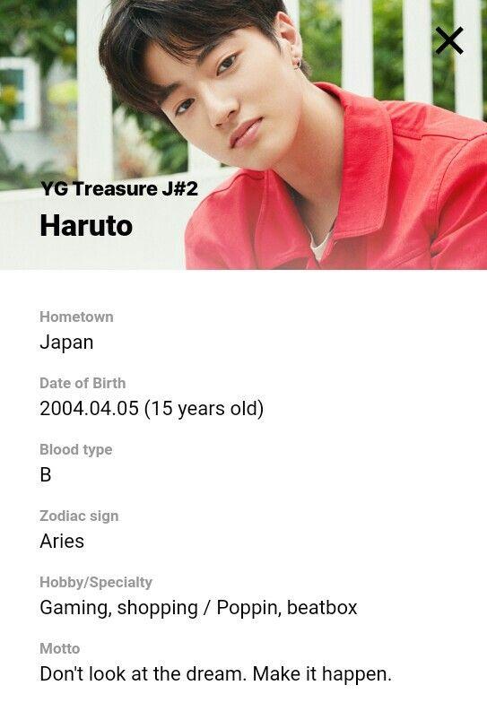 Haruto Profile Yg Treasure Box Group J Ygtrainee Ygnbg Survival Entertainment Youtube
