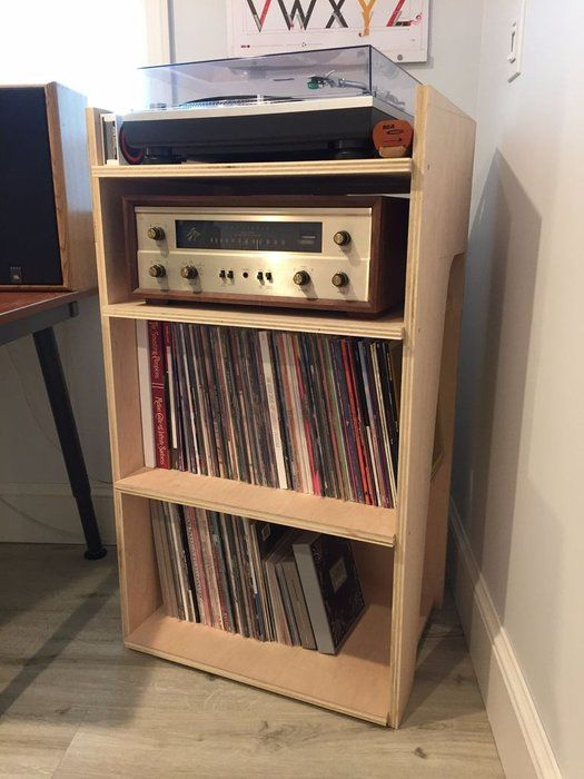 Turntable And Record Stand Record Stand Turntable Stand Diy Turntable Furniture