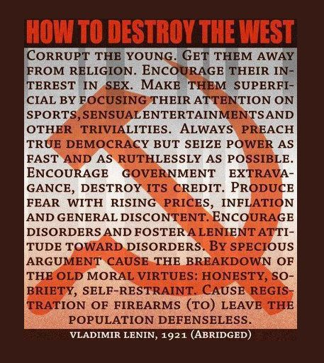 How To Destroy The West Vladimir Lenin Quotes