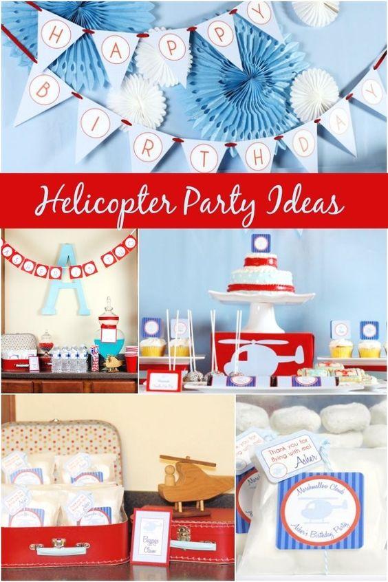 Helicopter Boy's Birthday Party Ideas www.spaceshipsandlaserbeams.com