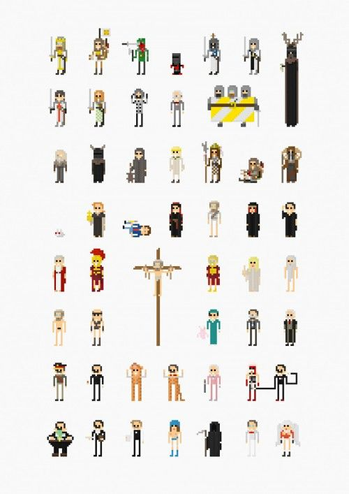 8-Bit Representations of Famous Film Characters by Fitz Fitzpatrick