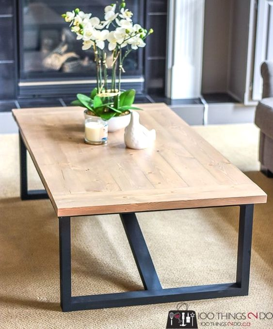Make Your Own Rustic Industrial Coffee Table With These Easy Building Plans And About Rustic Industrial Coffee Table Coffee Table Inspiration Diy Coffee Table