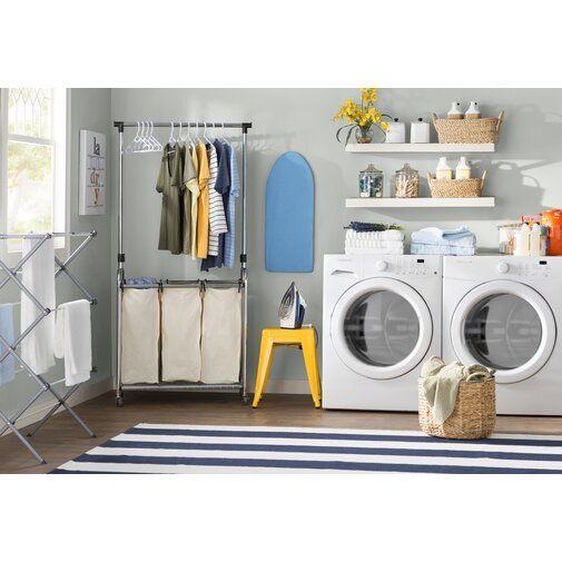 Wayfair Basics 3 Bag Laundry Center Laundry Room Storage Shelves Laundry Room Storage Laundry Room Organization