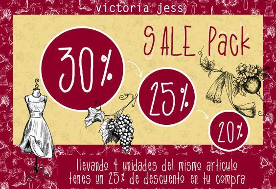 [ ¡ ATENCIÓN MAYORISTAS ! ]  ¡¡ Volvió el #VictoriaJess 4x3 Pack !!  Promociones y descuentos increíbles... Mirá el e-card y enterate más: http://bit.ly/1iggv1O