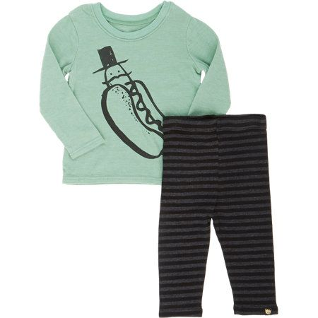 "Kira ""Mr. Hot Dog"" T-shirt & Stripe Pants Set at Barneys.com"
