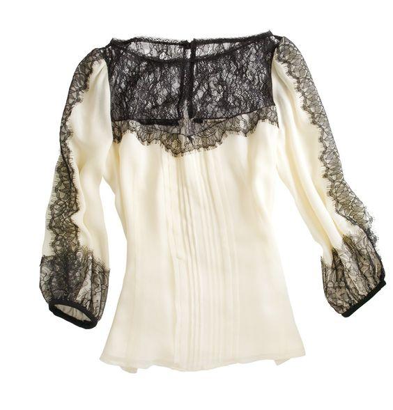 Nanette Lapore Silk and Lace Blouse