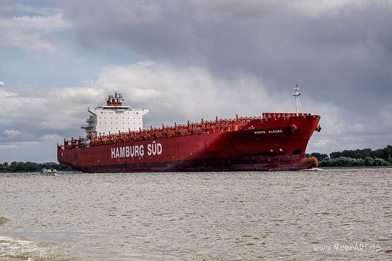 """Containerschiff """"MONTE ALEGRE"""" - IMO 9348065 // #HamburgerHafen #Schiffe #Hamburg #Containerschiff #HamburgSüd #MonteAlegre / gepinnt von www.MeerART.de"""