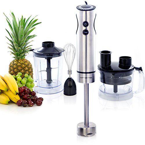 Single Blade Hand Food Mixer ~ Vremi in pro hand blender speed food processor