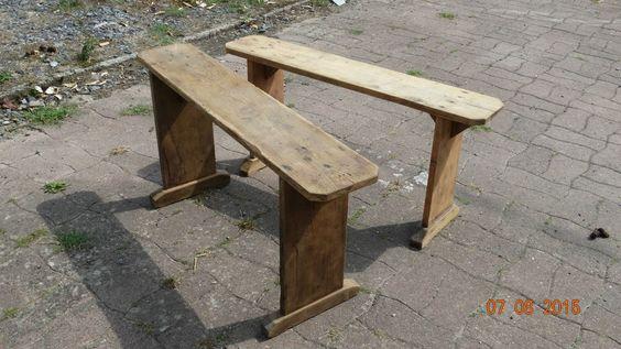 Merisier Bois Brut : banc en bois brut lot de 2 ou separ? decap?s merisier rustique et
