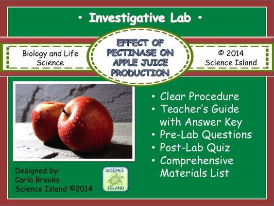 The effect of enzymes on apple