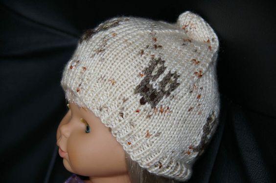 Etant donné que je vais être à nouveau Mamie le mois prochain, j'ai réalisé un bonnet de naissance pour mon petit bout. Ceci est un modèle de ma création. Il est légèrement plus grand que le bonnet rose à fleur d'avril 2012 réalisé pour sa sœur, la laine...