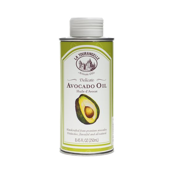 La Tourangelle Avocado Oil is 100% pure, all-natural and handcrafted from premium avocados. This gorgeous emerald green oil has a fine fruity roundness that makes it lovely for both sweet and savory applications. On salads, it contributes a hint of avocado flavor, and it is wonderful drizzled over slices of grapefruit and melon.