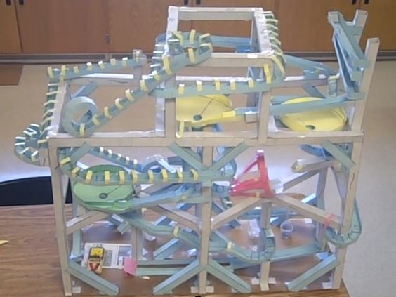Marble Roller Coaster Ideas | This paper roller coaster has 4 ...