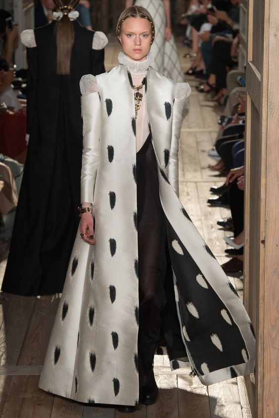 Funny, I live in the desert southwest, but I've become a jacket/coat hoarder.  Hmmm. #Valentino Fall #2016 Couture Fashion Show