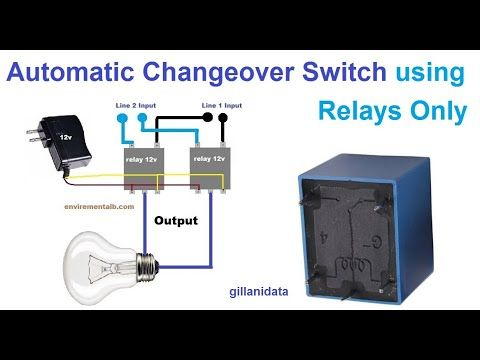 Automatic Changeover Switch Using Relays In 2020 Relay Electronic Schematics Switch