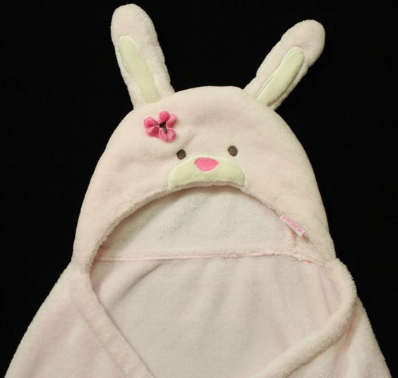 Carters Hooded Bunny Rabbit Pink Lovey Crib Baby Blanket 32x38 in Baby, Nursery Bedding, Blankets & Throws | eBay