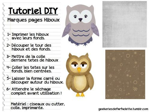 Posts marque page and diy and crafts on pinterest - Marque place original a faire soi meme ...