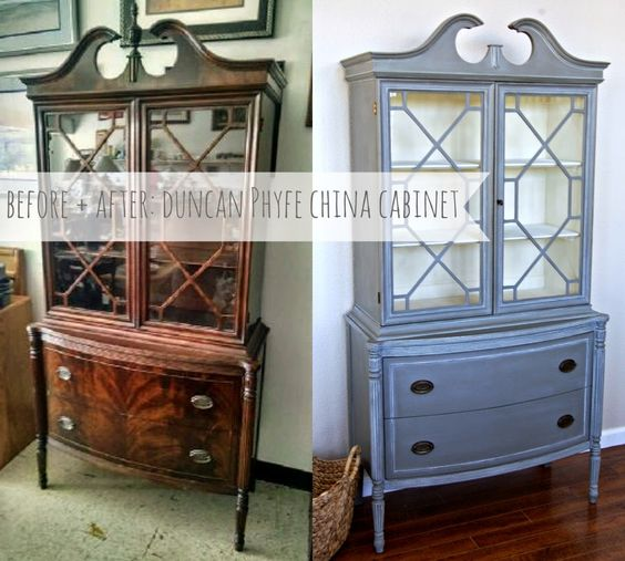 Before + After: Duncan Phyfe China Cabinet. See how chalk paint transformed  this dated