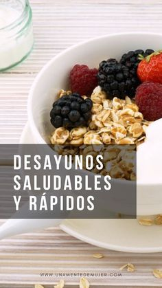 Menú Saludable Desayunos Deliciosos Y Rápidos Desayunos Saludables Food And Drink Eat Food