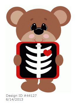 Clip Art X-ray Clipart teddy bear xray by stinkin cute paper piecings planner piecings