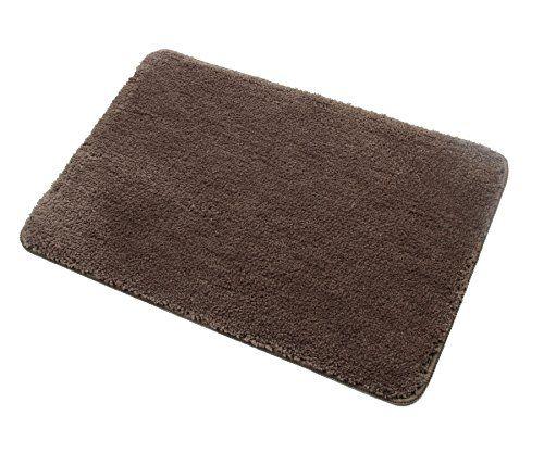 Homcomoda Microfiber Bath Rug Non Slip Bath Shower Mat Rubber