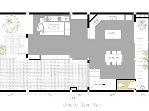 House 8x11m Google Drive Denah Desain Rumah Rumah Desain