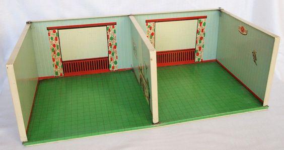 1954 Monia Puppenwohnung und -möbel aus Stahlblech | by diepuppenstubensammlerin