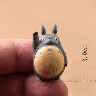 Accessories Resin Totoro Cabochon / Dust Plug/ Glass Ball Ring 30mm xt0075