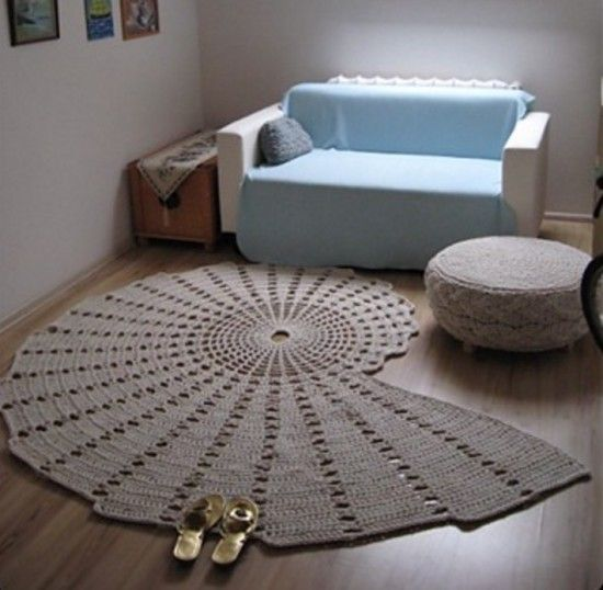 Crochet doily rug, Doily rug and Seashells on Pinterest