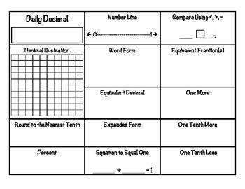 math worksheet : daily decimal  extra credit decimal and worksheets : Math Extra Credit Worksheet