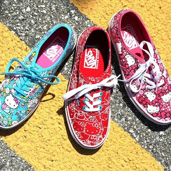 Hello Kitty Vans! These fun colored Vans are awesome for any Hello Kitty Fan! #VansShoes #HelloKittyShoes #HelloKittyFashion