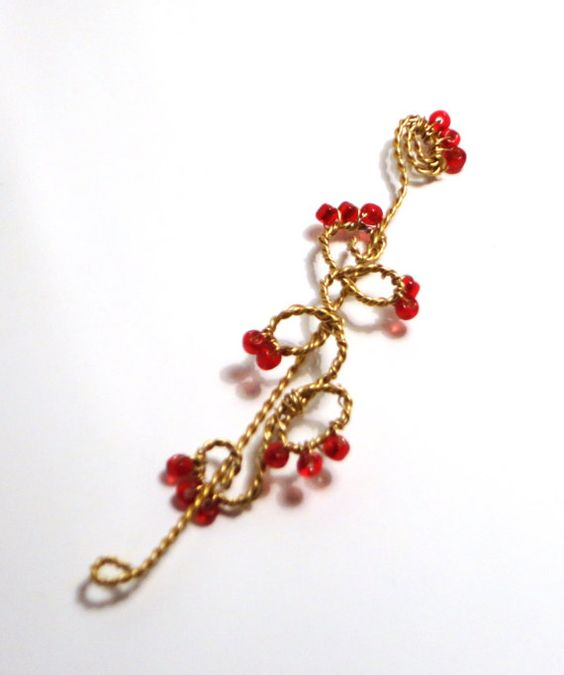 Wire Wrapped Hair Pin/ Shawl Pin