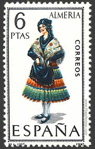 Trajes regionales españoles en sellos . ALMERIA.