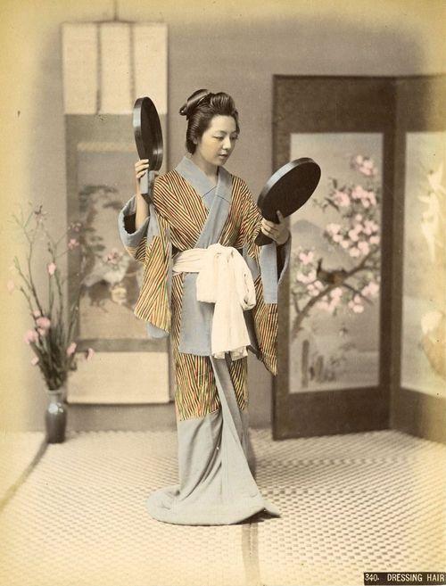 髪結 -- 【タイムスリップ】幕末から明治へ「1800年代末の日本」の臨場感あふれる写真たち: