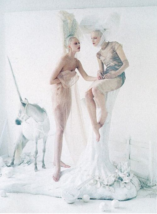 Frida Gustavsson and Mirte Mass photographed by Tim Walker for Vogue, May 2012