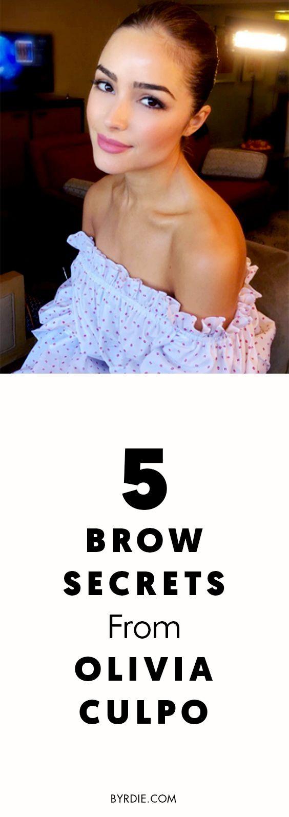 Olivia Culpo's go-to brow secrets