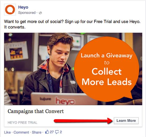 Surprising Results on using a Call To Action Button on Facebook Ads via @Alexis Hahn #Facebook