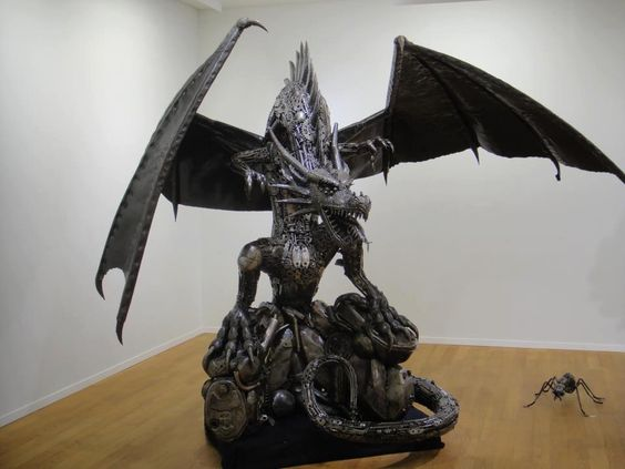 Recycled metal sculpture