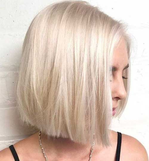 Bob Hairstyles With A Short Neck Trimmed Top Hair Bleached Best New Hair Styles Modern Bob Hairstyles Hair Styles Bob Hairstyles