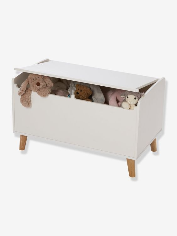 Confetti Toy Box - white light two color/multicol, Storage & Decoration | Vertbaudet