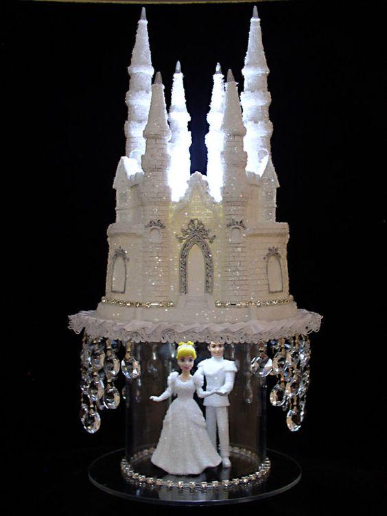 Cinderella Castle Cake Topper Wedding Fairytale Princess