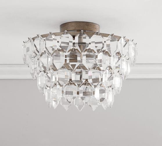 Alma Crystal Flush Mount Light Fixtures Flush Mount Crystals Flush Mount Lighting