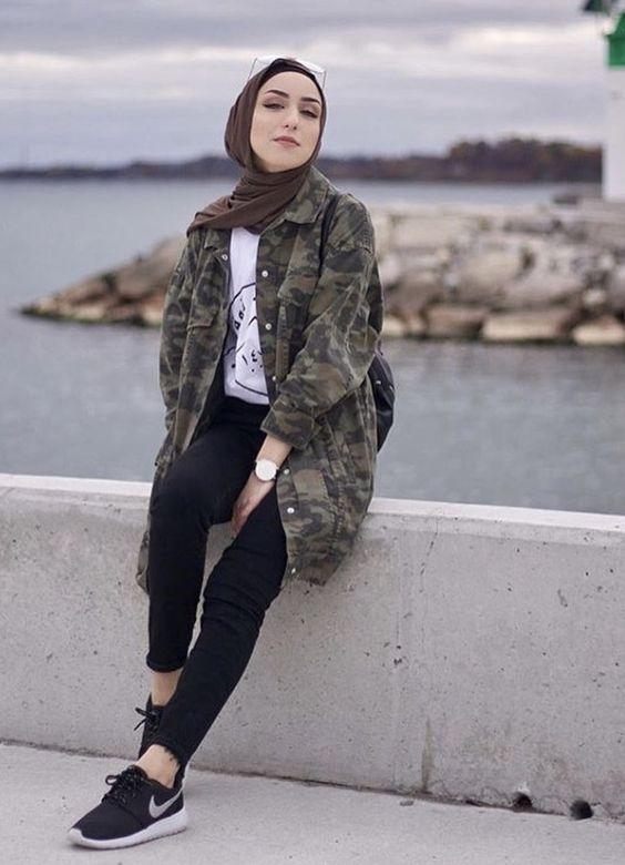 outfit hijab remaja kekinian 2020
