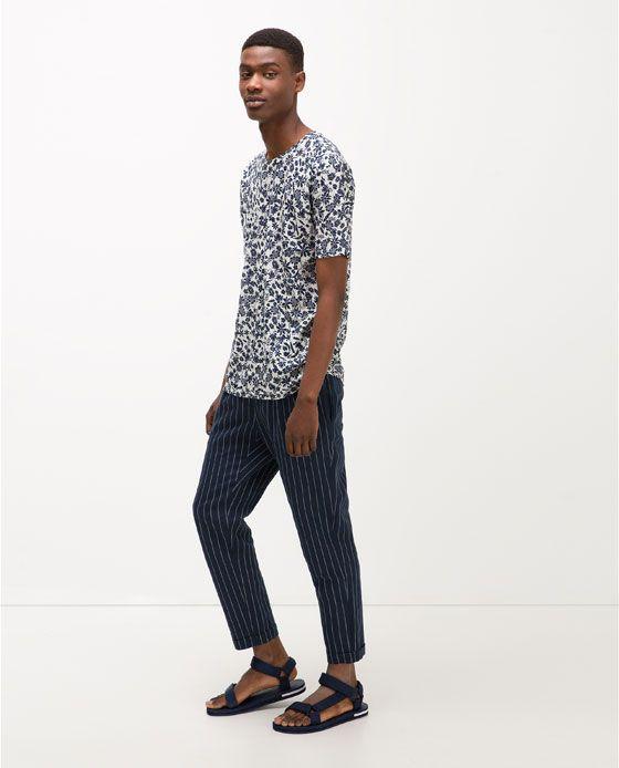 ZARA - メンズ - リネンTシャツ