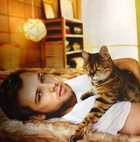Max Thieriot, star of Bates Motel, has Kristen Stewart to thank for his Bengal cat.:
