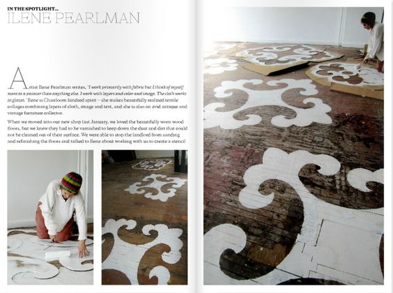 Stenciled Floor DYI from Lonny